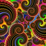Funky Rainbow Swirls Pattern