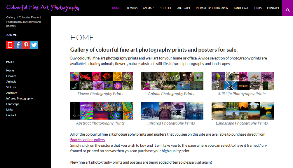 colourful fine art photography prints